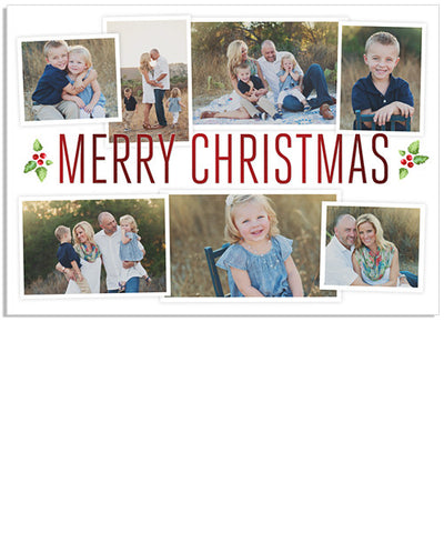 Merry Berries 7x5 Modern Christmas Foil Press Card