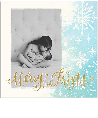 Merry Flurries 5x5 Accordion Card