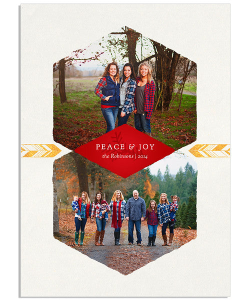 Peace, Joy and Honey 5x7 Flat Card