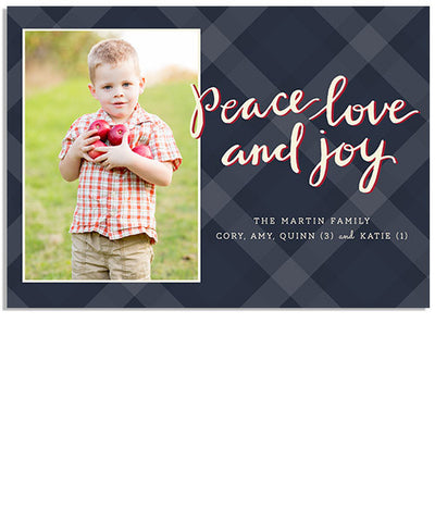 Peaceful Plaid 7x5 Flat Card