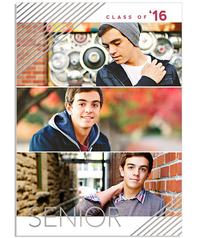 Poster Child 5x7 Senior Lines Foil Press Card