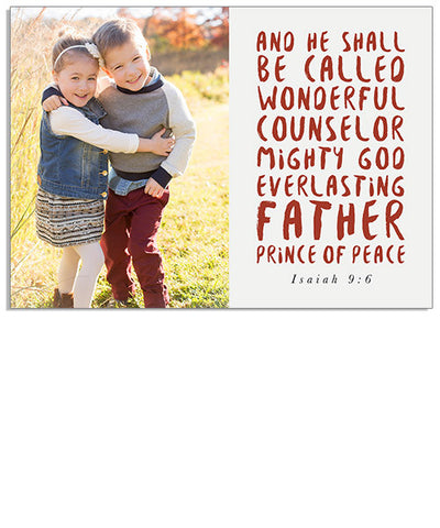 Prince of Peace 7x5 Flat Card