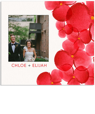Red Watercolor Blooms Single and Dual DVD Impression Cases and DVD Label