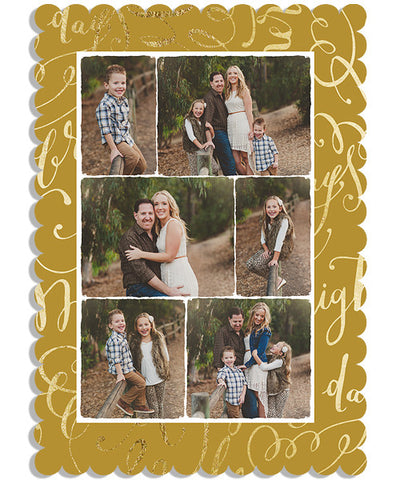 Romans 15-13 Wish 5x7 Scalloped Luxe Card