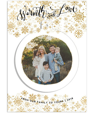 Snowfall 5x7 Circle Luxe Pop Card
