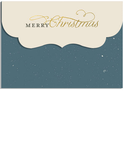 Snowy Elegance 7x5 Top Folded Luxe Card