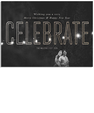 So Much to Celebrate 7x5 Celebrate Outline Foil Press Card