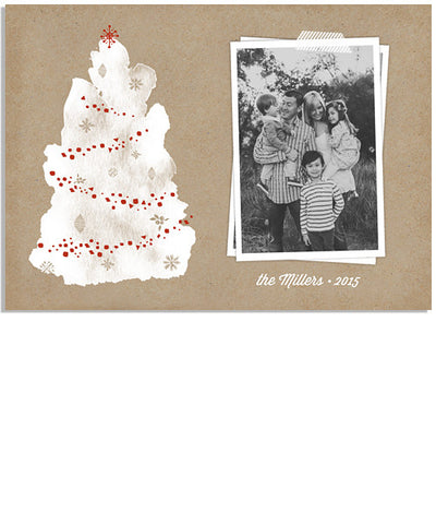 Trim the Tree 7x5 Flat Card