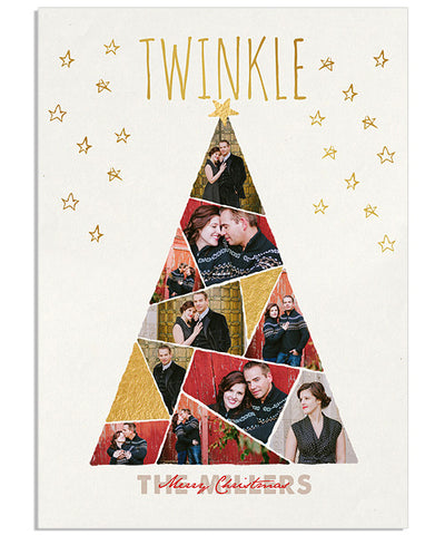 Twinkle Star 5x7 Twinkle Foil Press Card