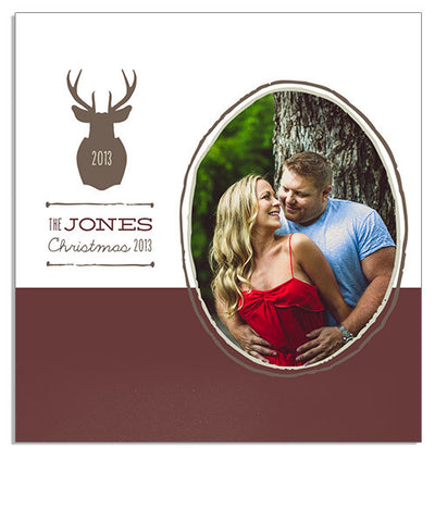 Woodsy Christmas Custom Wood Photo/USB Box and USB Drives