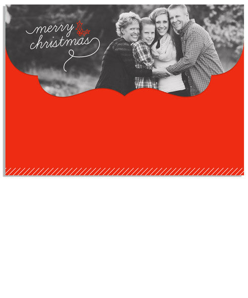 Holly Cheer 7x5 Top Folded Luxe Card and Address Label