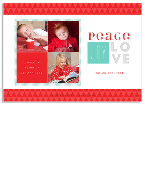 Candy-cane Christmas 7x5 Flat Card and Address Label