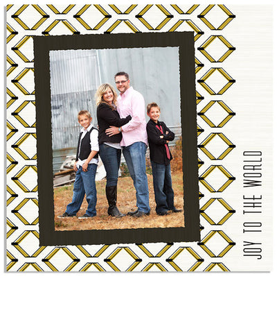 Tribal Cheer 5x5 Accordion Card and Address Label