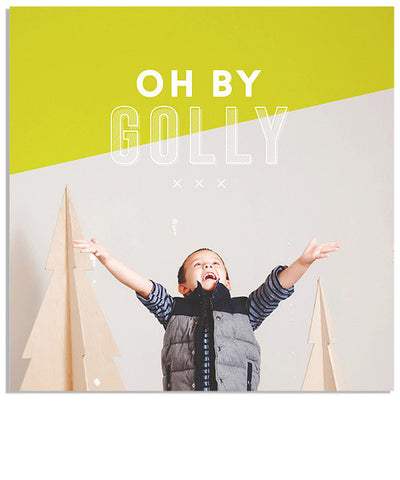 Oh by Golly 5x5 Accordion Card and Address Label