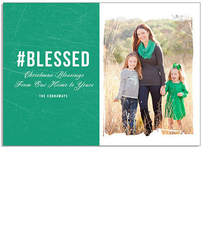 Holiday Hashtags 7x5 Flat Card