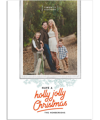 Joy Year in Review 5x7 Flat and Groove Luxe Card with Address Label