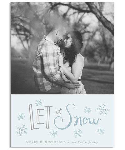 Light Snowfall 5x7 Flat Card and Address Label