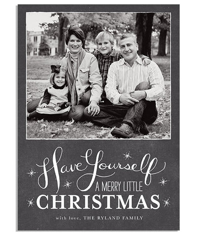 Merry Little 5x7 Flat Card and Address Label