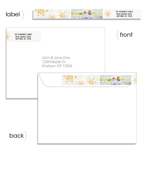 Blooms 7x5 Wide Format Card And Address Label  Address Label Format