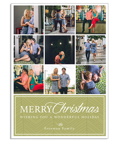 Wonderful Holiday 5x7 Flat Card and Address Label