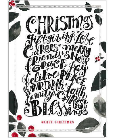Christmas Blessings 5x7 Classic Frame Foil Press Card