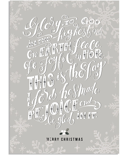 Glory 5x7 Snowflake Border Folded Foil Press Card