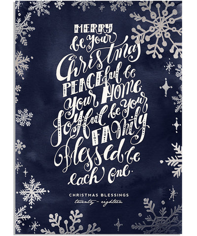 Year in Review 5x7 Snowflake Border Foil Press Card