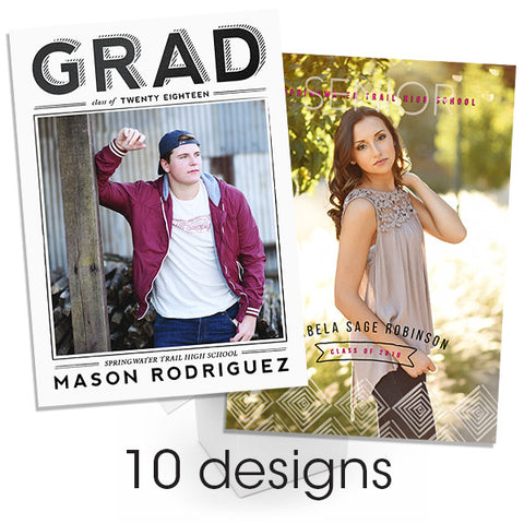 Foil Graduation Announcement Bundle