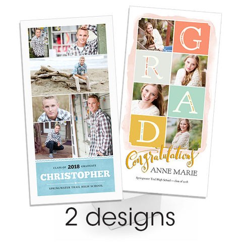 Found and Taken 4x8 Flat Card Senior Announcement Bundle