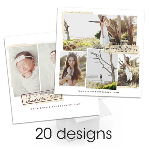 Watercolored Social Media Bundle