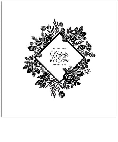 A Floral Wedding 12x12 Miller's Signature Album Custom Illustrated Cover