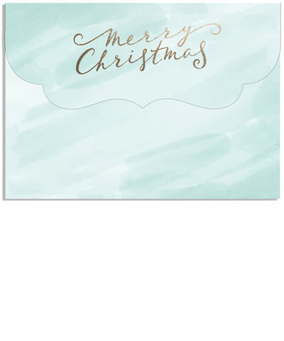 Artful Holiday 7x5 Ornate Top Folded Luxe Card