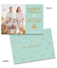 Love, Laughter, Joy 7x5 Flat Card, Address Label and Envelope Liners