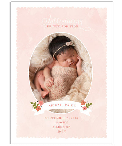 Baby Bloom 5x7 Flat Card