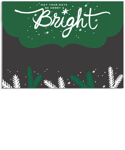 Be Bright 7x5 Ornate Top Folded Luxe Card