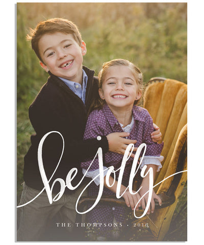 Be Jolly 5x7 Flat Card and Address Label