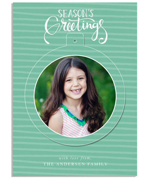 Be Merry 5x7 Circle Luxe Pop Card