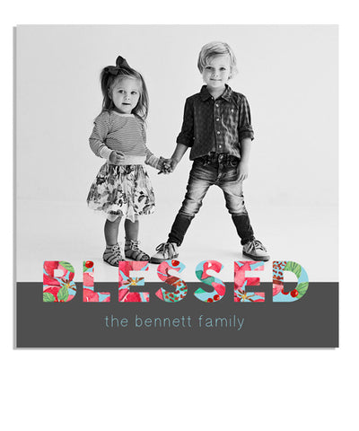 Blessed 5x5 Accordion Card and Envelope Liner