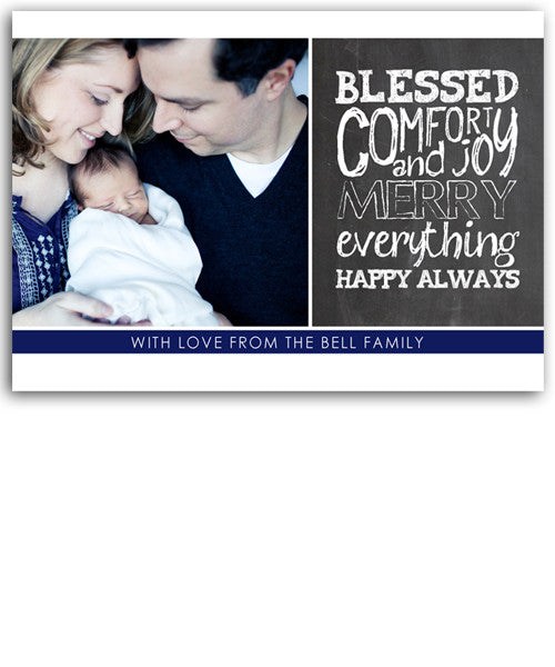 Blessed 7x5 Flat Card