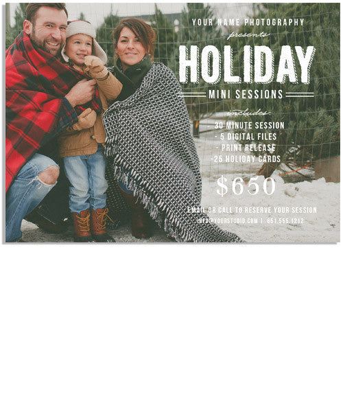 Bold Holiday Marketing Board 7x5 Flat Card or Digital Ad