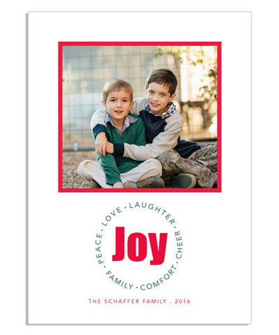 Bold Joy Circle 5x7 Flat Card