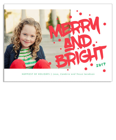Bright Merry 7x5 Flat Card