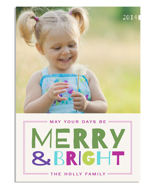 Bright Wishes 5x7 Flat Card