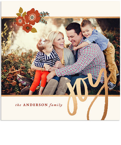 Celebrate Joy 5x5 Accordion Card, Address Label and 3x3 Ornate Sticker