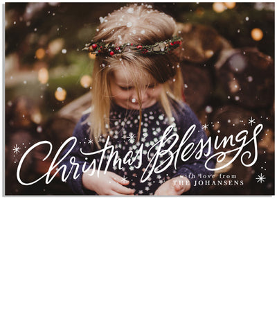 Christmas Blessings Burst 7x5 Flat Card and Address Label