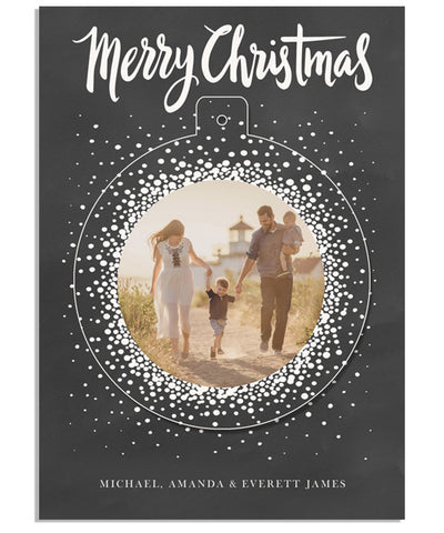 Christmas Confetti 5x7 Circle Luxe Pop Card