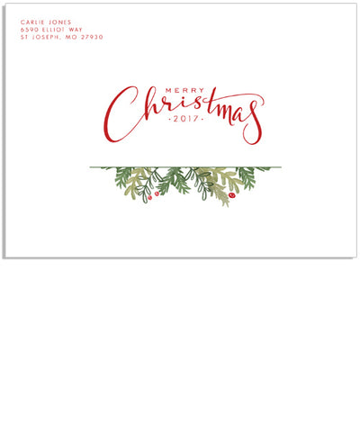 Christmas Greens 7x5 Printed Envelope