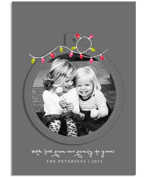 Christmas Lights 5x7 Circle Luxe Pop Card