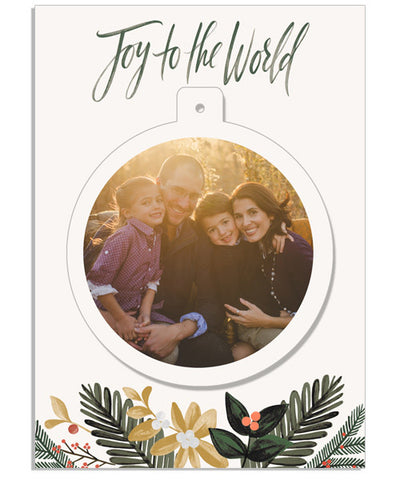 Christmas Pines 5x7 Circle Luxe Pop Card