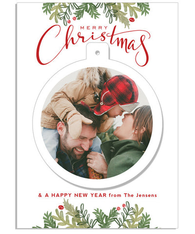 Christmas Traditions 5x7 Circle Luxe Pop Card
